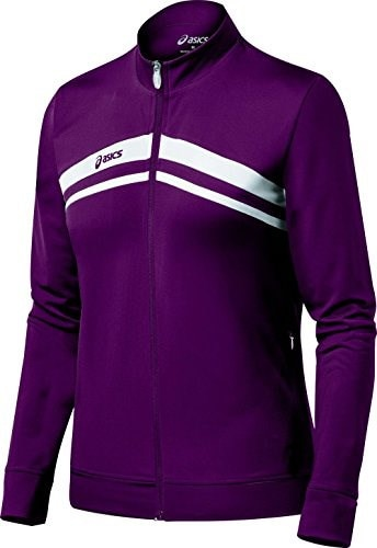 ASICS Womens Cabrillo Jacket,Maroon/White,XX-Large