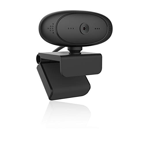 webカメラ ウェブカメラ マイク内蔵 USB接続 ドライバ不要 200万画素 フルHD 1080P テレビ会議 テレワーク zoom skype 在宅勤務 オンライン授業 日本語説明書ブラック