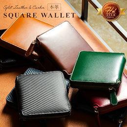 MURA 財布 二つ折り財布 メンズ ラウンドファスナー 革 BOX財布 メンズ 二つ折り ファスナー 本革 レザー 革 コンパクト