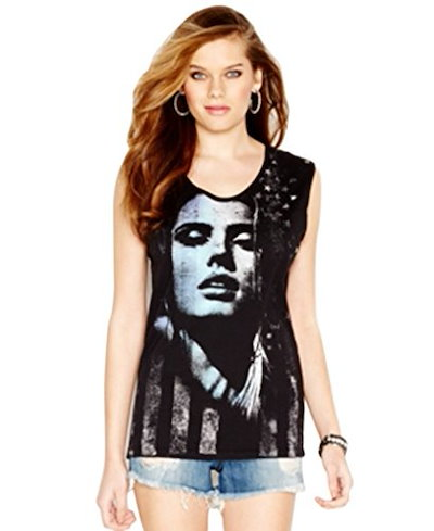 Guess Sleeveless Graphic Top
