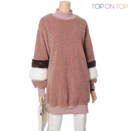 タプオンタプタプオンタプメレンゲ配色ニートTP164817 ニット/セーター/ニット/韓国ファッション