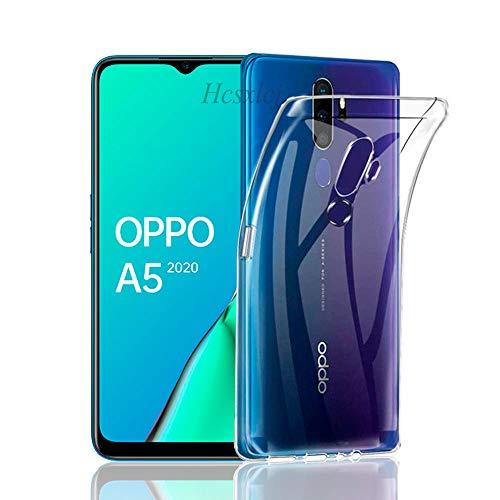Oppo A5 2020 / A9 2020 ケース Oppo A5 2020 カバー TPU 超薄型 全面保護 ケース TPUソフトシリコン 透明 クリアケース 耐衝撃 一体型 人気 メッキ加工