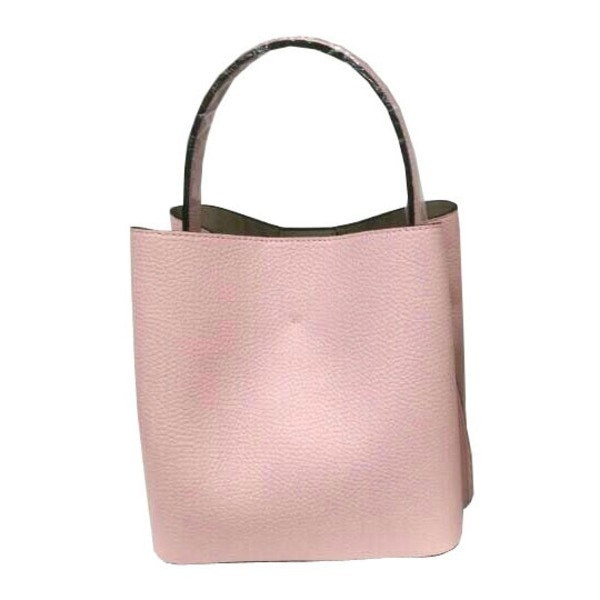 柔らか素材のダブルポケット2wayトート〔Mサイズ〕 ライトピンク