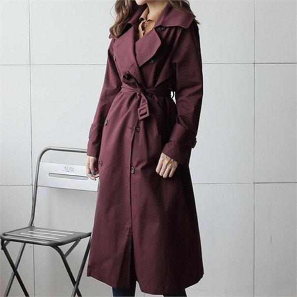 スカーレットバーバリコート 女性のジャケット / 韓国ファッション/ジャケット/秋冬/レディース/ハーフ/ロング/