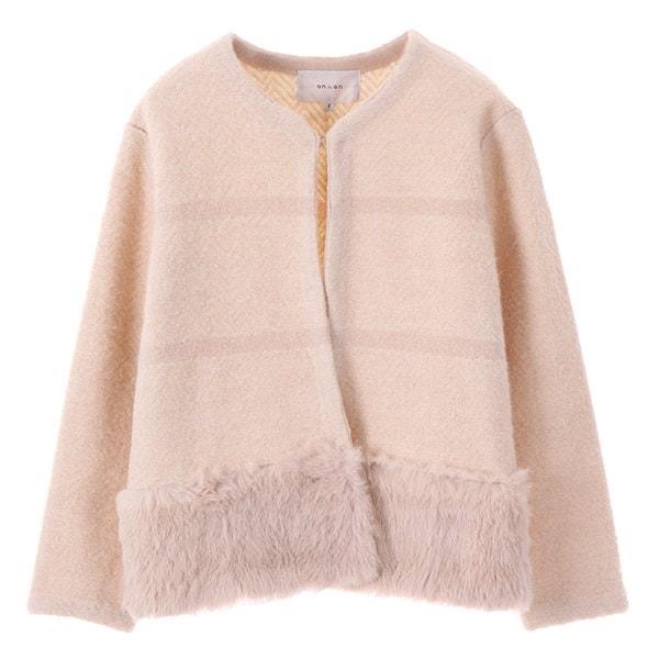 [韓国直送] 【オンエンオン] fur point cardigan NK7WD505