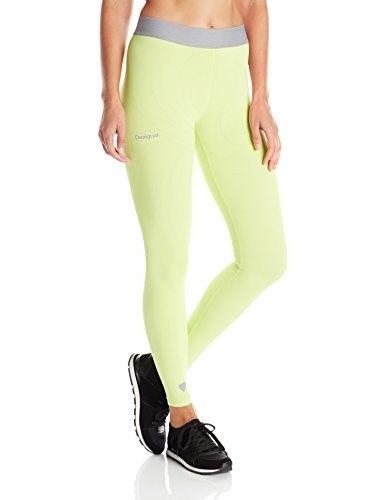 Desigual Womens Pant Naranja, Green, Medium