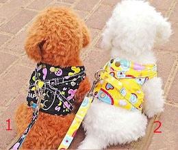 犬用胸背ハーネス付き★けん引ロープ★犬服★ペット用品★全6色pet53