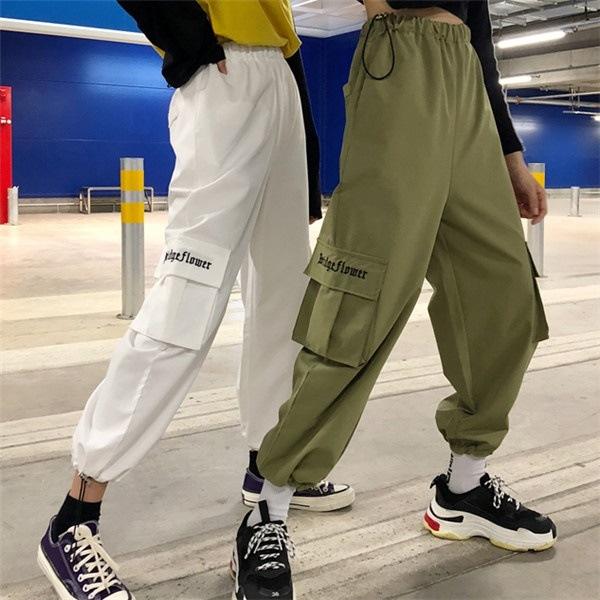 4d71ba46d9b 韓国 ストリート系 スケーター ステージ衣装 ダンス衣装 ガールズ ファッション HIPHOP 長ズボン ロングパンツ レディース