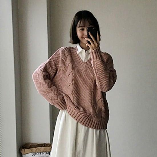 イルチルサ風が吹けばねじれたニット ニット/セーター/ニット/韓国ファッション