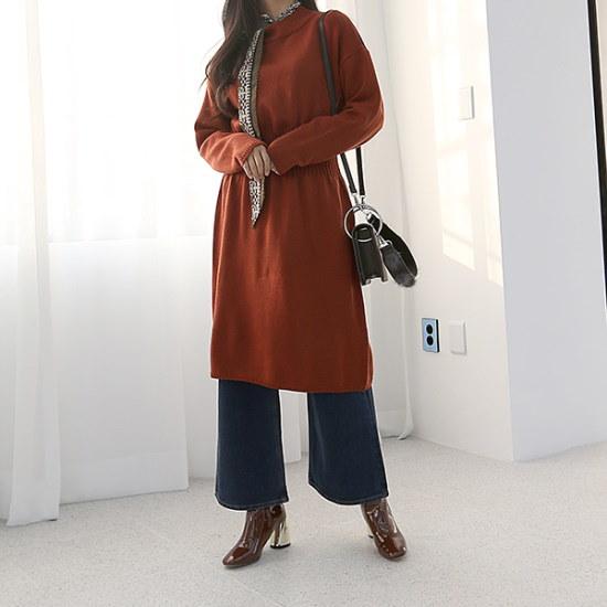 ブルランチョロマンチックニット・ワンピースop01969 綿ワンピース/ 韓国ファッション