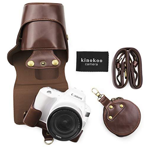 【残りわずか】 kinokoo Canon EOS KISS X9 / EOS KISS X10専用カメラケース カメラバッグ 18-55 mm レンズ 対応 バッテリーの交換でき 三脚ネジ穴付き