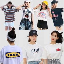 2018 可愛い tシャツ/  韓国ファッションchic ★ulzzang/原宿系/ tシャツ/可愛い/韓国ファッション/大人気♥tシャツ♥ Tシャツ/キュートな半袖/超品質最低価格で購入/