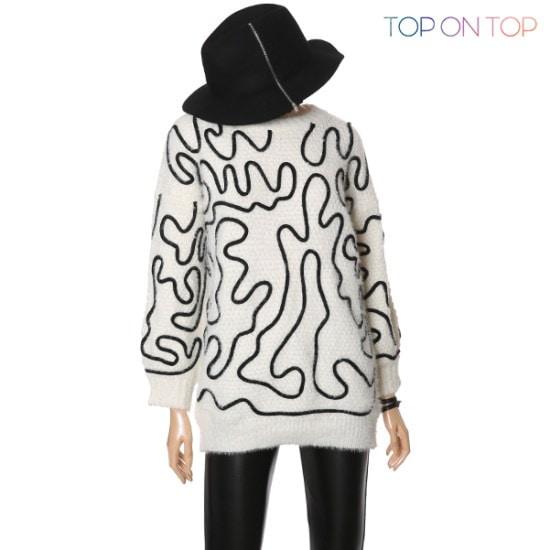 タプオンタプタプオンタプ迷路ファインドニートTP164813 ニット/セーター/ニット/韓国ファッション