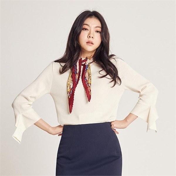 スリーブフリルニット(J11PNT006)new 女性ニット/ラウンドニット/韓国ファッション