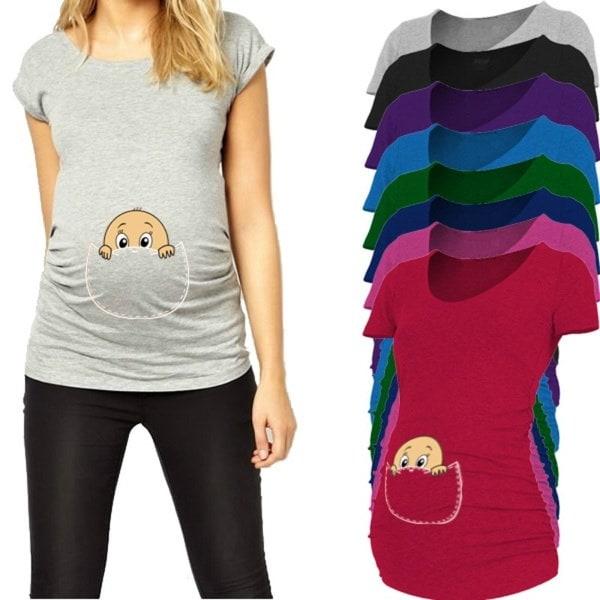 ベビーピーキングアウト2016年新生児用シャツ(妊婦用プラスサイズ)