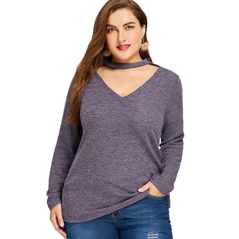 プラスサイズカットセーター