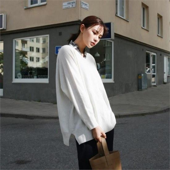 デイリー・マンデー行き来するようにデイリー・マンデーDaily vneck knitデイリーブイネク・ニット ニット/セーター/ニット/韓国ファッション