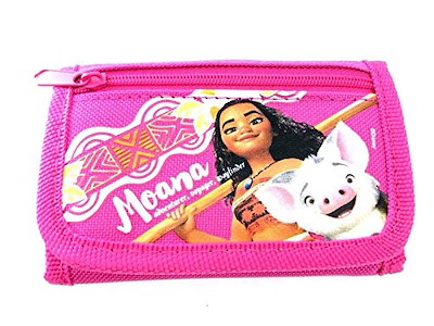 Party Favors Disney Moana Wallet-Passport Bag- String Sling Tote Bag Backpack (WALLET PINK)