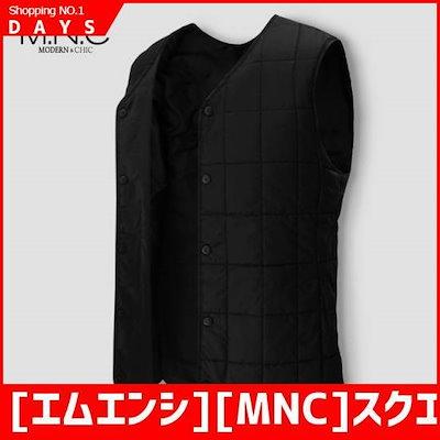 [エムエンシ][MNC]スクエアのキルティングパディングチョッキ(MDPD419GM) / パディング/ダウンジャンパー/ 韓国ファッション