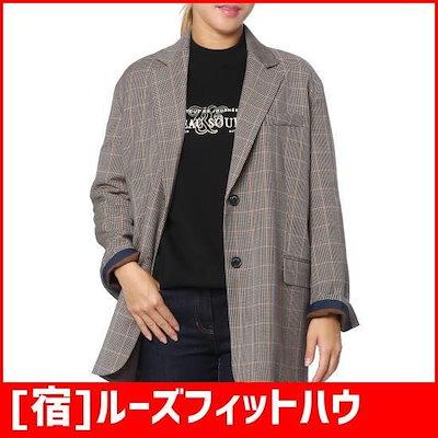 [宿]ルーズフィットハウンドトゥースチェックのジャケット(Z183MSF016) /テーラードジャケット/ 韓国ファッション