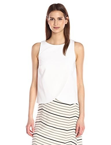 Theory Womens Mintorey Admiral Crepe Top, Eggshell, Large