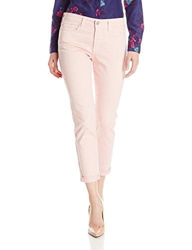 NYDJ Womens Rachel Roll Cuff Ankle Jeans In Bull Denim, Peach Skin, 12