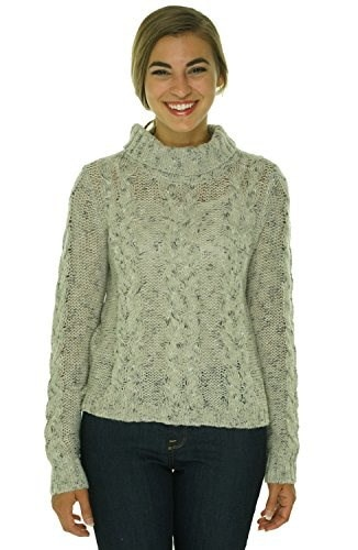 Kensie Womens Marled Knit Turtleneck Sweater Chai Combo S