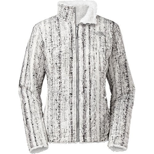The North Face Womens Mossbud Swirl Reversible Jacket (Large, TNF White Birch Print/TNF White)