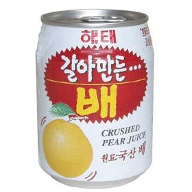 【Hantosi韓国果実飲料】 ☆人気☆ヘテ 梨ジュース (238ml/缶)