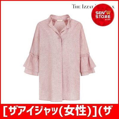 [ザアイジャッ(女性)](ザアイジャッ)2段やフリルリンネンブラウスII8A0BL41 /ソリ/ッドシャツ/ブラウス/ 韓国ファッション