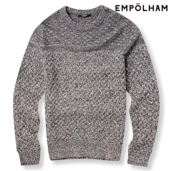 エムポルヘムエムポルヘムE男性クヮベギパターンラウンドニットEPU4ER1413CH ニット/セーター/ニット/韓国ファッション