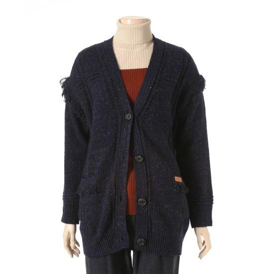 ソスデイアイルランドタスル装飾カディゴンT168MCD241 ニット/セーター/ニット/韓国ファッション