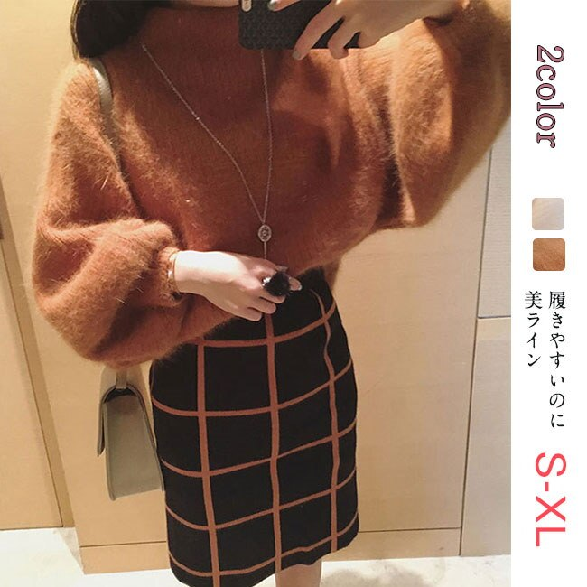 AW新作!温かさの秘密は発熱する毛糸と保温する編地のダブル機能!新感覚の「あったかい♪」レディース ニット セーター トップス 長袖ショート プルオーバー 韓国ファション 女性用 編み タートルネック