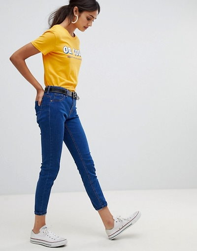 ベルシュカ レディース デニムパンツ ボトムス Bershka push up jeans