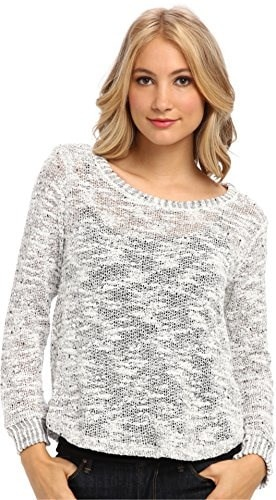 Splendid Womens Pullover Top Heather White Sweater XL (Womens 14-16)