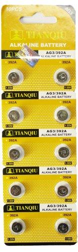 TIANQIU製 アルカリボタン電池 LR41 (AG3) 10個入り1パック