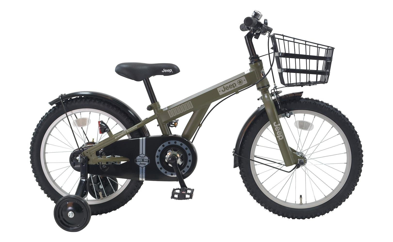11/30予約販売 完成品 組立出荷 子供用自転車 2020モデル JEEP ジープ 子ども自転車 18インチ JE-18 幼児用 前カゴ 補助輪付
