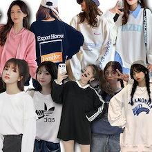 新作韓国のファッション/tシャツ/長袖/大集合女性 コットン半袖/oversi/春夏レディース白の