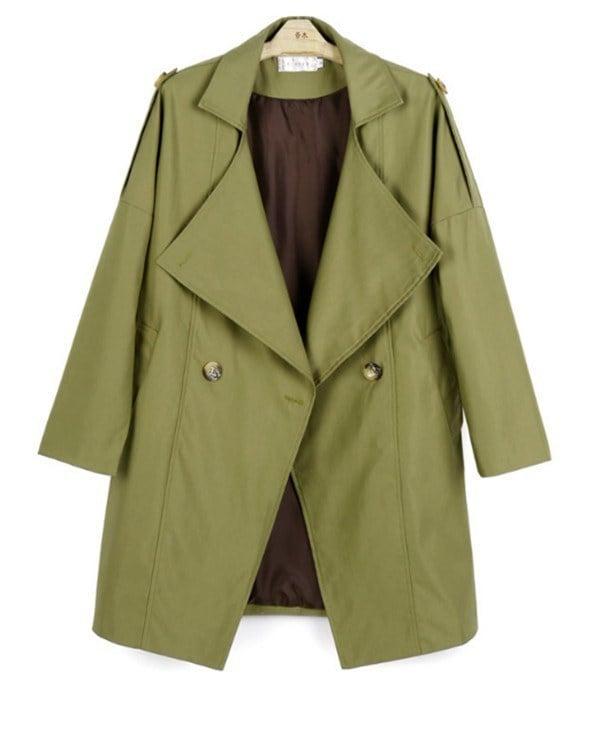 コートレディース トレンチコート レジャー Wボタン カジュアル ファッション 着心地よい 春新作 通勤 きれいめ春コート レディースコート