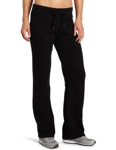 Champion Womens Open Bottom Eco Fleece Sweatpant, Black, X-Large