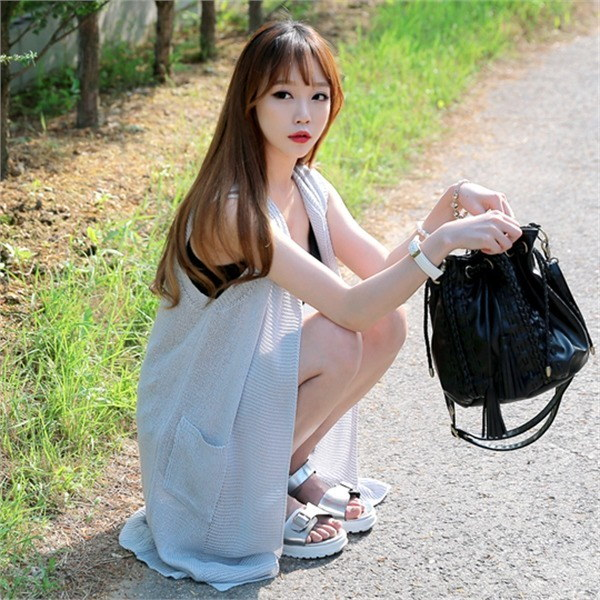 vt055ダプネンロンチョッキ夏カディゴンビーチウェアデイリーシースルー網タイツnew 女性ニット/ニットベスト/韓国ファッション
