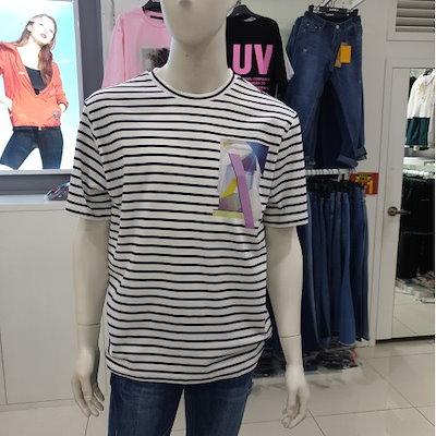 [AK公式ストア]【clide】メンズストライプ転写Tシャツ(FJBTS264M)