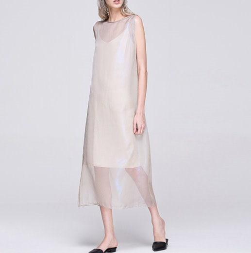 レディー女性 スリムなシフォン ロング ドレス ワンピース 大きなプラスサイズあり