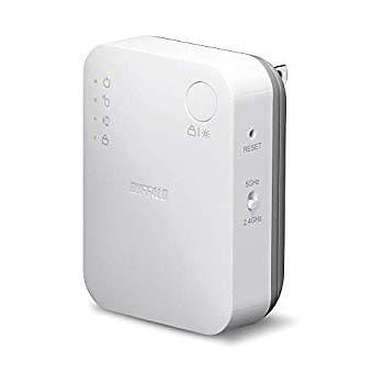 BUFFALO WiFi 無線LAN 中継機 WEX-733DHP/N 11ac 433+300Mbps コンセント直挿しモデル 簡易パッケージ【iPhoneX/iPhoneXSシリーズ メーカー動作