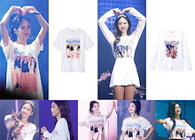大人気!BLACKPINKコンサート 週辺JISOO JENNIE Tシャツ 韓国ファッション 男女兼用  トップス 韓国 K-POP 応援服