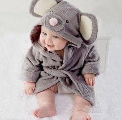 a8753580c9614 ベビーバスローブ 赤ちゃん部屋着 アニマル ベビー タオル ポンチョ 子供 可愛い 柔らかめ フランネル もこもこ 動物