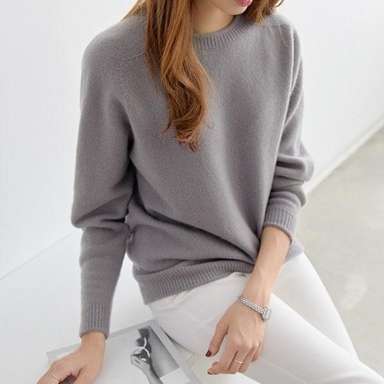 ペッパーラウンドネックホルカモントゥウール・ニット104391 ニット/セーター/ニット/韓国ファッション