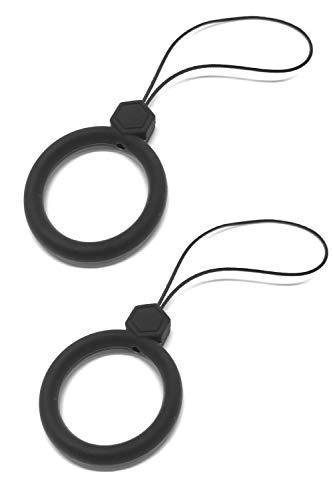 wumio フィンガーストラップ シリコン 2個セット シンプル機能で落下防止 スマホを傷めないシリコン製 滑りにくいリングストラップ