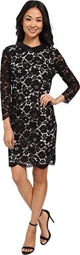 Ted Baker Womens Scallop Hem Lace Dress Black Dress 1 (US 2)