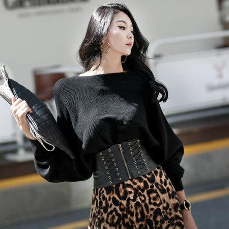 【ディントゥ] E1552バットウィングスリーブニットトップkorea fashion style